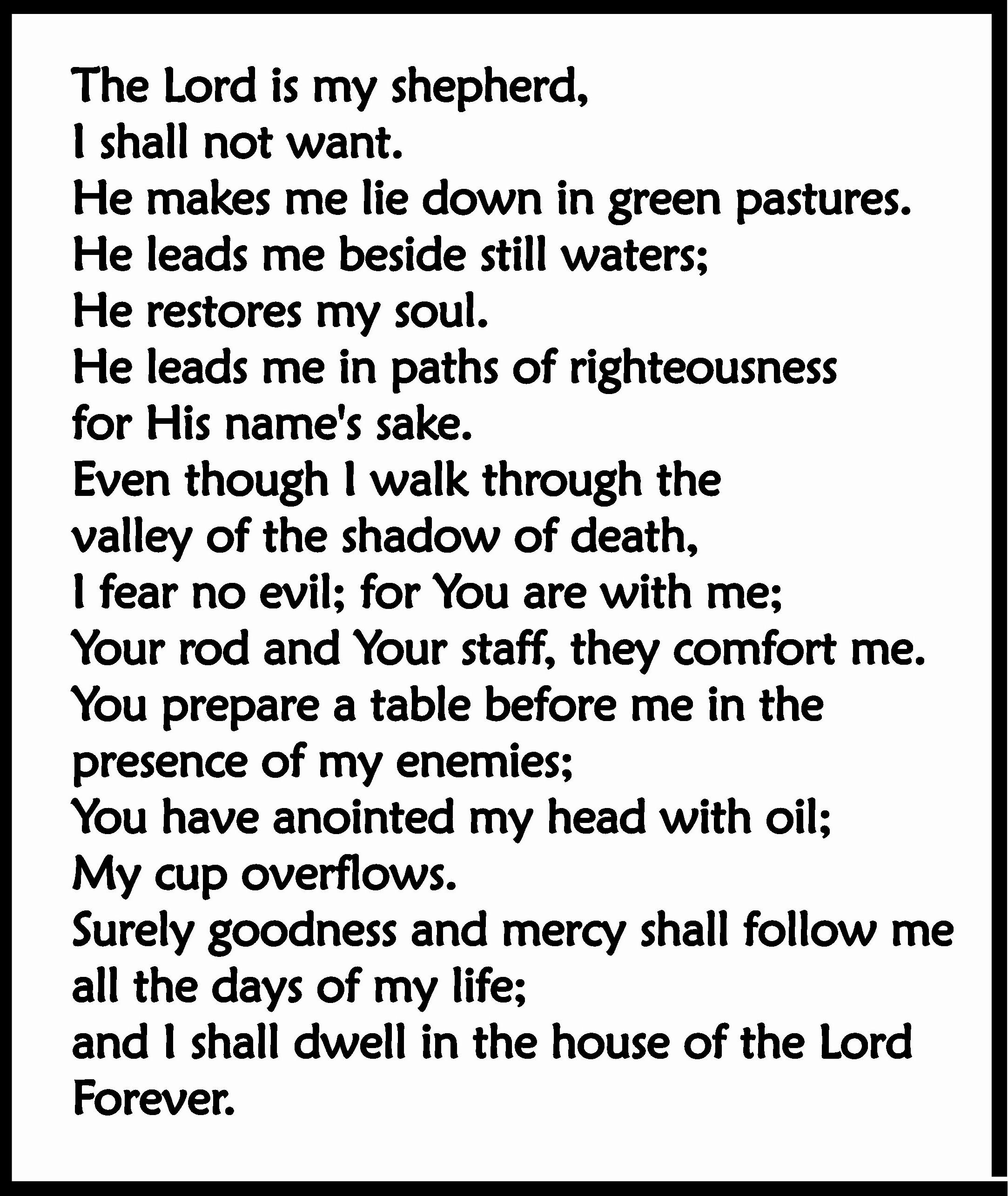 psalm-23-e - Psalm 23 - Bible Study